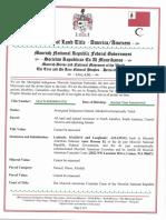 Affidavit of Land Tile - America/Amexem