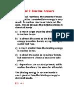 Nuclear Chem Exercise