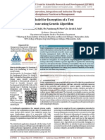 A Model for Encryption of a Text Phrase using Genetic Algorithm