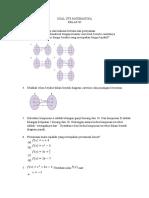 Soal Uts Matematika Xi