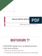 Racun Biotis Atau Biotoksin