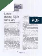 Manila Bulletin, June 25, 2019, Romero prepares Eddie Garcia Law.pdf