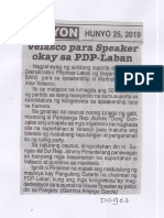Ngayon, June 25, 2019, Velasco para Speaker okay sa PDP-Laban.pdf