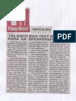 Pang-Masa, June 25, 2019, Velasco nag-text brigade para sa speakership race.pdf