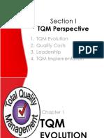 Lecture 1. TQM Evolution New