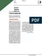 A congresso su chimica dell'ambiente e beni culturali - Il Corriere Adriatico del 24 giugno 2019