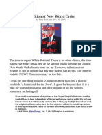 Zionist New World Order Terry Tremaine