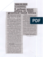 Peoples Journal, June 25, 2019, 200 urban poor families in NGC granted land titles.pdf
