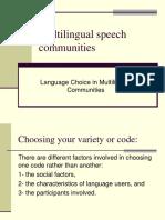 Language Choice