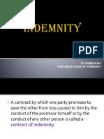 Indemnity & Guarantee