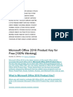 Product key office 2016.docx