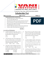 1.Scholorship Test (02!09!18) (Chennai)