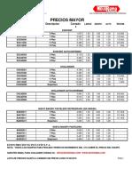 LISTA BASE PRECIOS $ 07 MAYO  2019 DISTRIBUIDORES