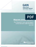 The Financial Crisis -- Implications for the Internal Audit Profession