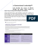 4 Dimensions of Instructional Leadership
