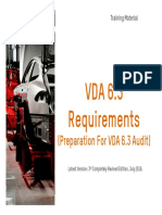 VDA 6.3 Requirements - Training Material