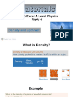 1. Density and Upthrust