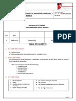 5. Block Work Masonry Methodology