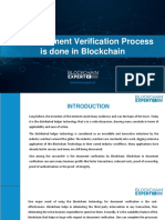 How Document Verification Process is Done in Blockchain