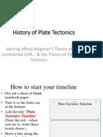 History of Plate Tectonics Ppt-1
