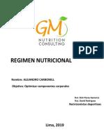 Regimen Nutricional 9-6-2019