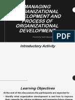 JACOBE Organizational Developmen Process. Jacobe