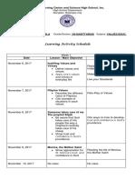 Lesson Planning Filipino