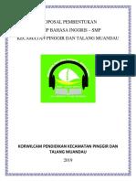Proposal Pembentukan Mgmp