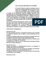 Historia Breve de La Policía Nacional de Colombia