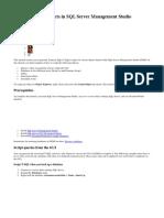 Tutorial Script Objects in SQL Server Management Studio