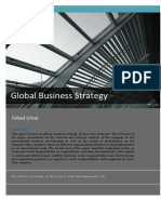 Global Business Strategy a Case Study Of