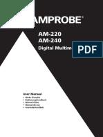 AM 220 AM 240 Digital Multimeters Manual