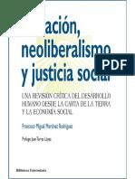 Neoliberalismo y justicia social
