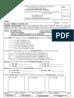 Mathematics 5 Exam sample