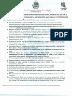 requisitos resolución de campo