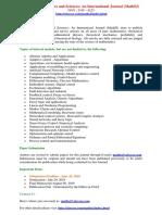 412247937 Applied Mathematics and Sciences an International Journal MathSJ