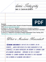 Academic Integrity - Bulletin