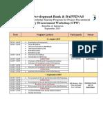 Program for IDB Country Procurement Workshop Indonesia 31 Aug - 01 Sept