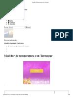 Medidor de Temperatura Con Termocuplas