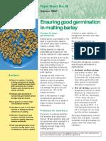 Ensuring Good Germination in Malting Barley