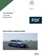 Preturi Toyota Corolla SDN HSD Web 2019 MARTIE