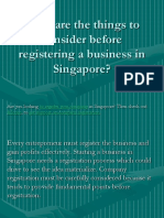 What Are the Things to Consider Before Registering a Business in Singapore