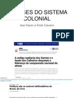 As Bases Do Sistema Colonial