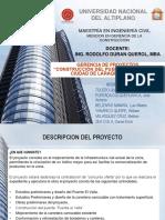 DOCUMENTACIÓN DE UN PROYECTO DE CONSTRUCCIÓN,  SEGÚN EL PMI