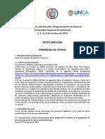 VI Circular - Jornadas Interescuelas 2019