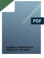 Summary Disruption of Products Resumen