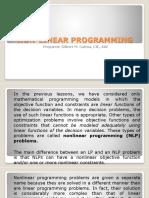 Operes3 Non Linear Programming