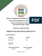 Informe Diseño Red GPON 2.0