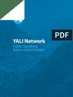 YALI Public Speaking Advice and Checklist
