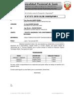 Informe 071-Solicito Maquinaria Para Mejoramiento de via Bolognesi